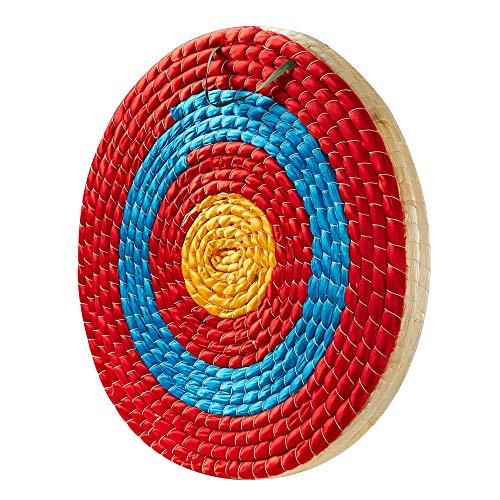 Toparchery Zielscheibe Bogenschießziel Traditionelles strohzielscheibe Durchmesser für Bogenschießen, Bogen Zielscheibe 50 x 50 cm (B)