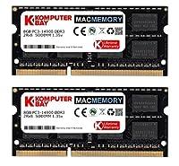 Komputerbay MACMEMORY 16ギガバイト(2x8GB)アップルメモリ後期2015 iMacの27のアップグレード」DDR3L 1867Mhz PC3L-14900 SODIMM 2Rx8 CL13 1.35V RAM
