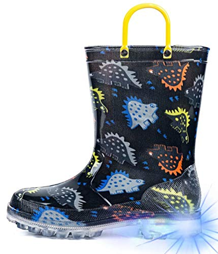 HugRain Toddler Boys Rain Boots Kid…