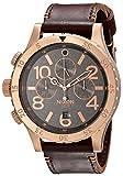 Nixon Men's A3632001 48-20 Gun Rose Chrono Leather Watch