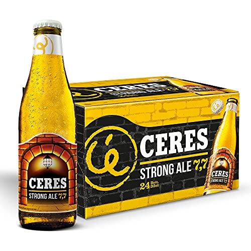 Ceres Strong Ale – Birra doppio malto dal gusto pieno e i riflessi dorati, 7,7% vol. 24 bottiglie x 33cl