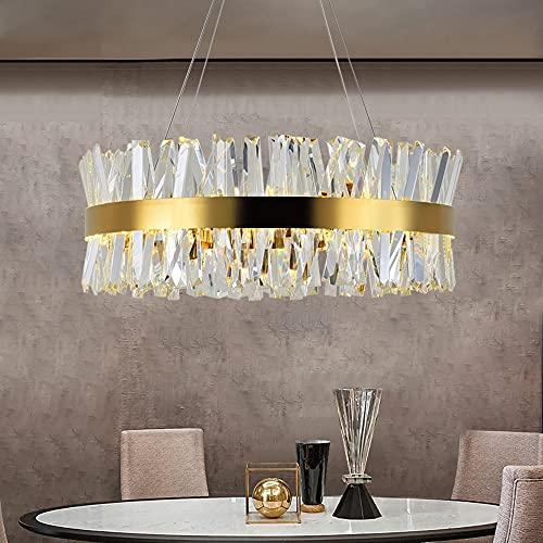 MZXUN. Lampadario da camera da letto in cristallo oro illuminazione rotonda cromata LED lampadari a LED per soggiorno sala da pranzo nel corridoio Hallway Home Decor