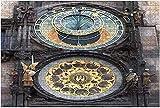 1000 piezas: reloj astronómico de Praga, el tiempo medieval funcional más antiguo, pieza de rompecabezas de madera, rompecabezas educativos para niños, regalo de descompresión para adultos, juegos cr