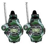Reloj Walkie Talkies Para Los Niños De Largo Alcance Radio De Dos Vías Del Ejército Del Aire Libre Juguetes 150m Verde 2 Pcs Práctico Y Utilidades