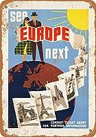 金属の印はヨーロッパのインチのレトロな装飾の錫の印の棒、喫茶店、芸術、家の壁の装飾を見ます