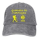 Hoswee Hombres Mujer Gorra Beisbol,Snapback Sombreros Camino De Santiago Compostela Jeanet Gorras de Camionero Adjustable Trucker Cap