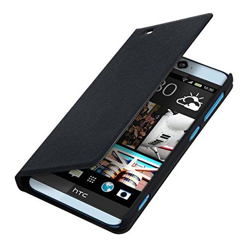kwmobile HTC Desire Eye Hülle - Handyhülle für HTC Desire Eye - Schwarz - Handy Case Schutzhülle Klapphülle