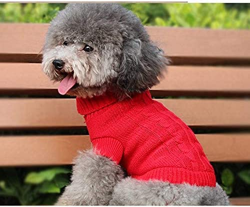 FidgetGear XXXS XXS XS Knitted Dog Sweater Cat Puppy Clothes Jumper for Chihuahua Teacup Red product image