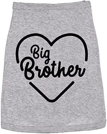 Dog Shirt Big Brother Cute Clothes for Family Pet Heather Grey XL product image