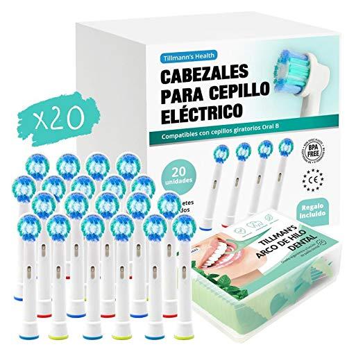 Recambios Cepillo Oral B Compatibles 20 Unidades + Arcos Hilo Dental Regalo...