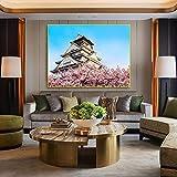 zgwxp77 Lienzo Pintura Moderna Flor de Cerezo decoración del hogar Imagen de la Pared para la decoración de la Sala de estar40x32cm sin Marco