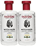 Thayers Witch Hazel Natural Facial Toner with Aloe Vera Formula with Lemon, 12 Ounce (Pack of 2)