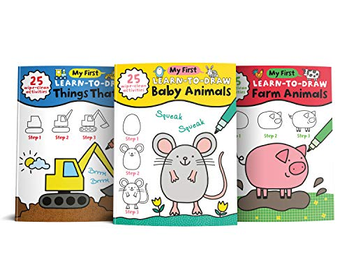 My First Learn to Draw Gift Set: 3 Wipe Clean Activity Books for Toddlers