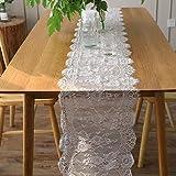 35 300センチメートルヨーロッパの白い糸のまつげのレーステーブルのフラグ結婚式の結婚式の装飾クリスマスの日のパーティーの装飾