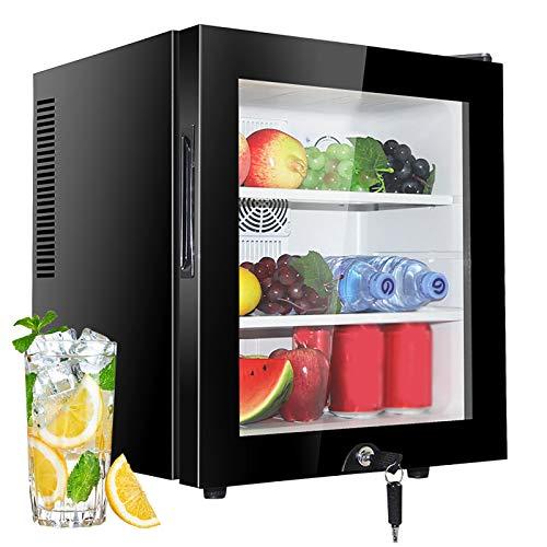 Minirefrigeradores De 30L, Refrigerador PequeñO De Mesa, Congelador Enfriador De Bebidas, Luz Led, Bajo Nivel De Ruido, Bajo Consumo De EnergíA A +, Para El Hogar, Hotel,Oficina,Glass-door