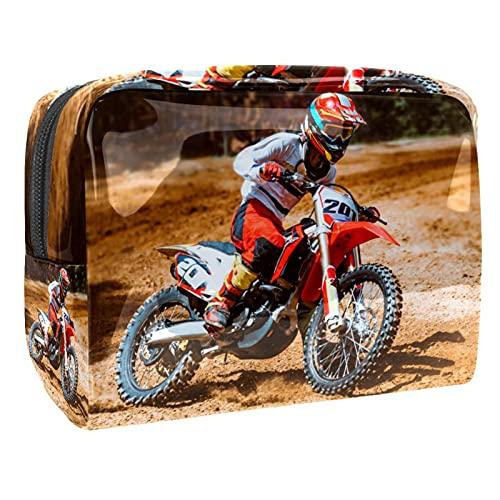 Beauty Case da Viaggio Antiurto Motociclo Porta Trucchi Impermeabile, Trousse Make Up Organizer Bag Grande Valigetta Trucco Professionali per Donna Uomo 18.5x7.5x13cm