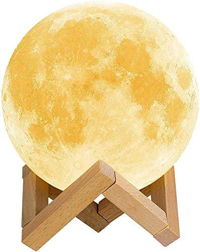 Lámpara de Luna 3D,16 Colores RGB Luz Nocturna...