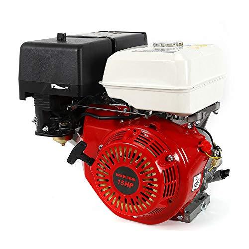 Ranzix - Motor de gasolina de 4 tiempos de 9 kW y 15 CV (25 mm de diámetro del eje, protección contra falta de aceite, 1 cilindro, 4 tiempos, refrigerado por aire, arranque manual)