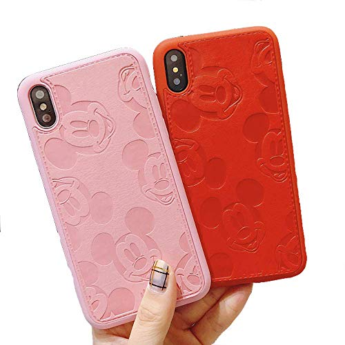 VIDALIBRE Funda iPhone XR, XS (Impresa por Disney) (iPhone XS (Available for iPhone X), Mickey Mouse) (iPhone XS (aplicable iPhone X, Rosa)