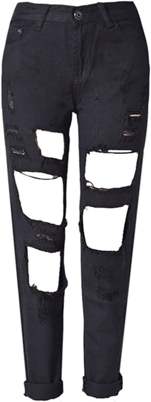 Sales results No. 1 Allonly Women's Destroyed Skinny Fit Stretch Ripped Free shipping Jeans Pencil