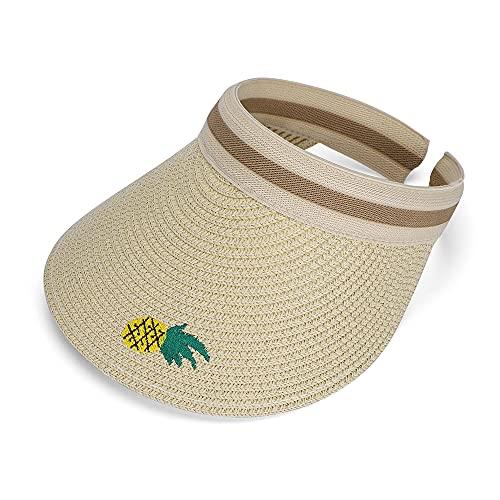 MK MATT KEELY Solhatt för barn 6-12 år flickor pojkar visir keps brett brätte UV-skydd för sommar utomhus sport strand resor
