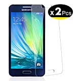 NEW'C Lot de 2, Verre Trempé pour Samsung Galaxy A3 2015 (SM-A300F) Film Protection écran - Anti Rayures - sans Bulles d'air -Ultra Résistant (0,33mm HD Ultra Transparent) Dureté 9H Glass