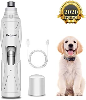 Dog Nail Grinder Upgrade Electric Pet Nail Trimmer Rechargeable Professional Nail Grindder Painless Paws Grooming 2-Speed for Small Medium Large Dogs Cats