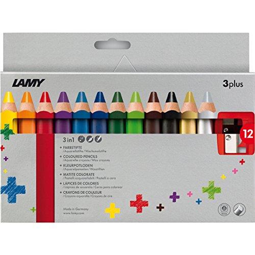 Lamy 1223548 Buntstift Set Farbstift 3plus 12er Faltschachtel