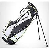 LZXMXR La Bolsa de Golf, los Hombres y de Soporte del Bolso del Arma de la Mujer, Ligero portátil de Alta Capacidad Club de Bolsa (Color : Black and White Green Edging)