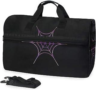 MONTOJ Reisetasche mit Spinnennetz, übergroß, Segeltuch, Lila