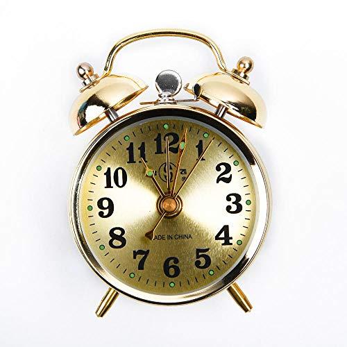 Alarmklocker8B Hoefijzervormige mechanische gouden wekker lichtstaaf / klok handmatig opwinden klok klassieker retro wekker geschenk kamerdecoratie 7 cm