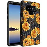 MINITURTLE Compatible with Samsung Galaxy Note 9 N960 Slim Hard Embossed Shell Grip Hybrid Case Protection - Bumble Bee Flowers