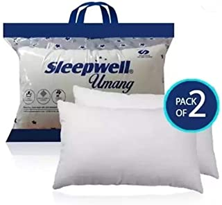 Sleepwell Pillow, Single, White, Pack of 2