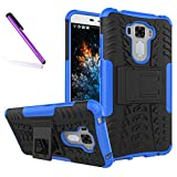 COTDINFORCA Case for ZenFone 3 Laser Tyre Pattern Design Heavy Duty Tough Protection Case with Kickstand Shock Absorbing Detachable 2 in 1 Case Cover for ASUS ZenFone 3 Laser ZC551KL. Hyun Blue