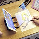 BLINGBIN Optical Drawing Pad Panel Tracing Board Easy Sketching Tool Art Projector Artifact Painting Kit Gifts for Kids
