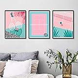 JJWJ Pink Stadium und Badminton Poster Kunstdruck Sport