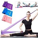 MAXYOGA Bandas Elasticas Fitness de 1.8M con 3 Niveles de Resistencias, 3 Cintas Elásticas Bandas de Resistencia para Yoga, Pilates, Crossfit, Estiramientos, Musculacion, Piernas, Brazos, Fuerza.