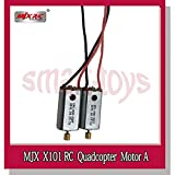 Parts & Accessories Original MJX X101 Motors Clockwise and Anti-Clockwise for X101 RC Drone Quadcopter Helicopter Parts - (Color: 2XmotorA)