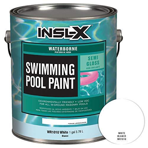 INSL-X WR101009A-01 Waterborne Semi-Gloss Pool Paint, 1 Gallon, White