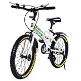 LINMOUA 20in Foldable Bicycle for Adult, Folding City Bike with Back Seat Aluminum Frame...