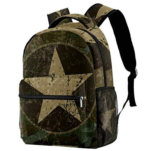 Lorvies Militär-Rucksack, Armee-Flügel, amerikanische Flagge, lässiger Rucksack, Schulterrucksack, Büchertasche für Schule, Studenten, Reisetaschen