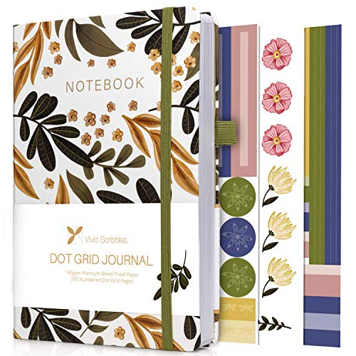 Vivid Scribbles Dotted Journal