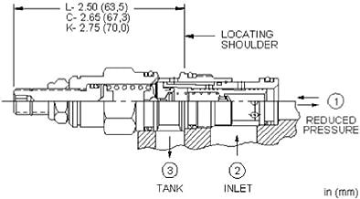 Sun Hydraulics PBDB-KBV Pilot Operated Pressure Reducing Valve, 5000 PSI