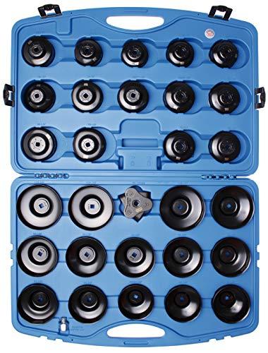 BGS 1039 div. Fahrzeuge geeignet | schwarz lackiert | inkl. Kunststoff-Koffer Ölfilterschlüssel-Satz 30-tlg