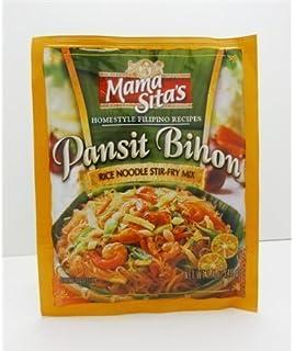 MAMA SITA'S - PANSIT BIHON - RICE NOODLES STIR - FRY MIX / 6 X 1.4 OZ - 40 G / Product of the Philippines by Mama Sita's
