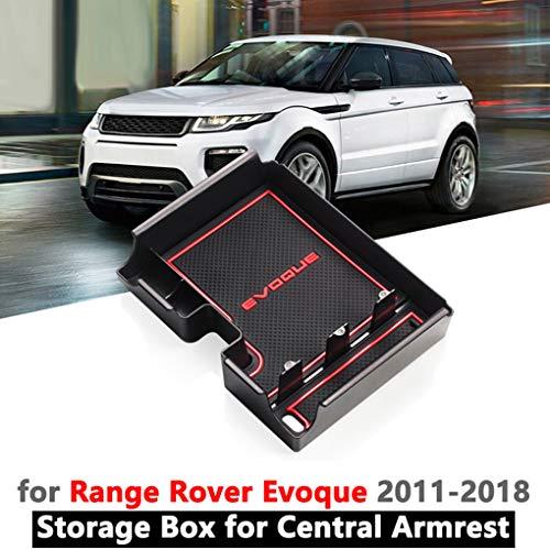 Ersatz für Range Rover Evoque 2012-2018 Mittelkonsole Münzen-Mappen-Speicher Armlehne Box Sundries Organizer Fach