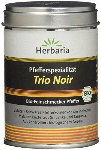 Herbaria Trio Noir Pfeffer schwarz M-Dose, 1er Pack (1 x 75 g) - Bio