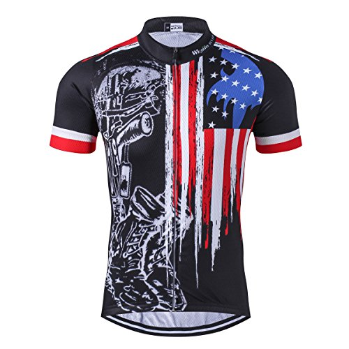 Cycling Jersey Men, Men's Bike Shirt Tops Short or Long Sleeve S-3XL,Comfortable,Breathable and Quick-Dry