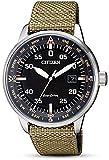 Citizen Herren Analog Quarz Uhr mit Stoff Armband BM7390-14E