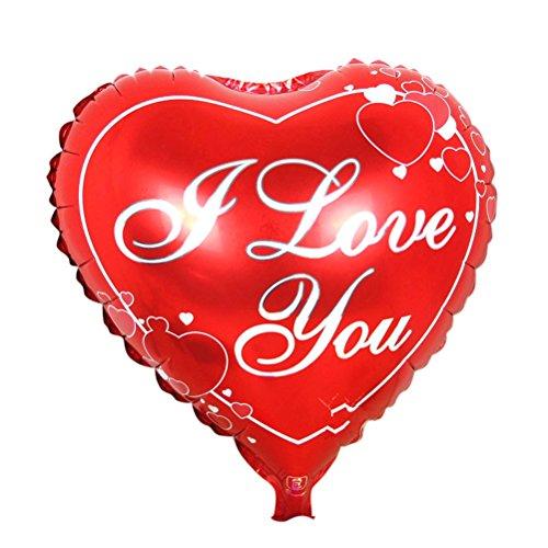 NUOLUX Mylar - Globos con Forma de corazón para decoración de Bodas, 18 Pulgadas, Amor 1, 45 * 45cm